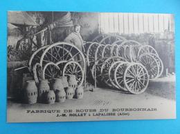 03 : LAPALISSE , FABRIQUE De ROUES Du BOURBONNAIS ,(Repro), Carte En Bon état,animée - Altri Comuni