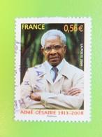Timbre France YT 4352 - Personnalité - Aimé Césaire - Portrait - 2009 - Usati