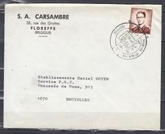 Brief Van Floreffe Naar Bruxelles - 1953-1972 Anteojos