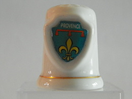 """Dé A Coudre En Porcelaine """" Provence"""" - Dés à Coudre"""