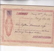 PENANG, MALAYSIA. RECIVED 15 000 DOLLARS DOCUMENT YEAR 1929 - BLEUP - Rechnungen