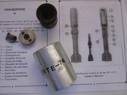 Grenade Française D'exercice à Fusil Mle 56F De 40mm Accessoires - Armi Da Collezione