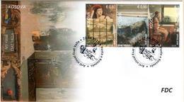 Kosovo Stamps 2019. Visual Art - Esat Valla. FDC MNH - Kosovo