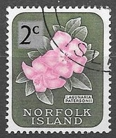 1966 2c Over 2d, Flower Lagunaria Patersonii, Used - Norfolk Island