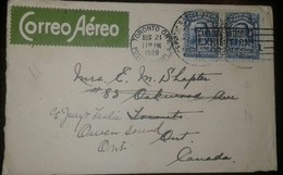 O) 1928 COLOMBIA, SANTANDER 4c Blue, CANADIAN NATIONAL EXHIBITION TORONTO -CANCELLATION, TO CANADA - Colombia