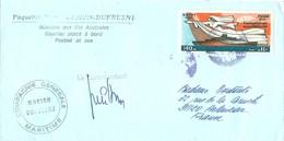 """TAAF - Lettre """"Marion Dufresne"""" Avec Timbre Egypte N°1119 Réouverture Du Canal De Suez + Cachet Manuel égyptien - Cartas"""
