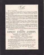 AMSTERDAM LA PANNE Burgemeester Ernest D'ARRIPE 1855-1937 Veuf SANCHEZ De AGUILAR Faire-part Décès - Esquela