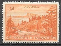 1947 1/2d View Of Ball Bay, Mint Hinged - Norfolk Island