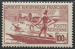 AFRIQUE EQUATORIALE FRANCAISE - AEF - A.E.F. - 1945 - YT PA 42** - A.E.F. (1936-1958)