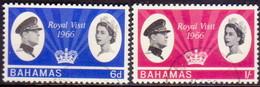 BAHAMAS 1966 SG #271-72 Compl.set Used Royal Visit - 1859-1963 Kolonie Van De Kroon