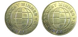 03627 GETTONE TOKEN JETON FICHA GAMING LUCKY WINNER ONLY FOR AMUSEMENT - United Kingdom