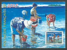 Polynésie Française Bloc-feuillet YT N°30 Paysages Polynésiens Neuf ** (Voir Description) - Blokken & Velletjes
