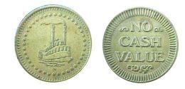 04289 GETTONE TOKEN JETON GAMING ARCADE SLOT RIVERBOAT  NO CASH VALUE - USA