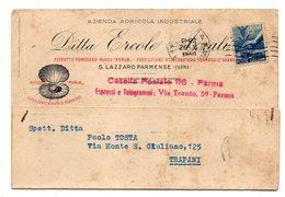 S. LAZZARO PARMENSE  AZIENDA AGRICOLA INDUSTRIALE DITTA ERCOLE AZZALI  ESTRATTO POMODORO  1950 - Parma