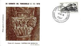 ITALIA - 1970 ASTI 12^ Giornata Del Francobollo - VII Mostra Filatelica Annullo Fdc + Timbro Rosso Su Busta Speciale - Francobolli