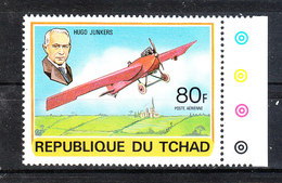 Ciad  Chad  -  1978. Storia Dell' Aviazione. Hugo Junkers E Suo Aereo.Aviation History. Hugo Junkers And His Plane. MNH - Aerei