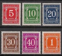 Tanzania - 1967 - Taxe N°Mi. 1 à 6 - Série Complète - Neuf Luxe ** / MNH / Postfrisch - Tanzania (1964-...)
