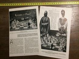 1910 ECHEC ET MAT JEUX D ECHECS ECHIQUIER - Vieux Papiers