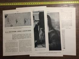 1910 LA JOCONDE CHEZ LEONARD DE VINCI BOYER D AGEN - Vieux Papiers