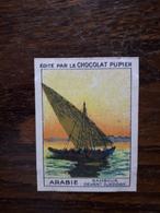 L20/57 Chromo Image Chocolat Pupier. Arabie . Sambouk Devant Djeddah - Chocolat
