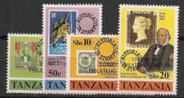 Tanzania - 1980 - N°Mi. 145 à 148 - Sir Rowland Hill - Neuf Luxe ** / MNH / Postfrisch - Sellos Sobre Sellos