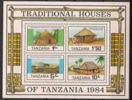 Tanzania - 1984 - N°Mi. Bloc 39 - Habitat Traditionnel - Neuf Luxe ** / MNH / Postfrisch - Tanzania (1964-...)