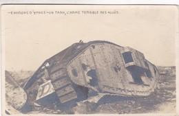ENVIRONS D'YPRES. UN TANK , L'ARME TERRIBLE DES ALLIES. CPA CIRCA 1940s - BLEUP - Ieper