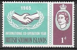 1965 ICY, 1d, Mint Hinged - British Solomon Islands (...-1978)