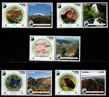 A352. KOLUMBIEN - 2019 - MNH- SET X 10 STAMPS - COLOMBIAN NATIONAL NATURAL PARKS. BEAR. BIRDS, PUMA, ARCHAEOLOGY - Colombia