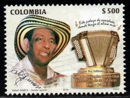 A368. KOLUMBIEN - 2019 - MNH- MUSIC - ALEJANDRO DURAN - ACCORDION - Colombia