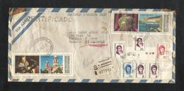 Argentina 1975 Registered Air Mail Postal Used Cover To Pakistan - Argentina