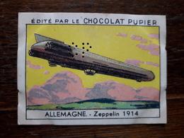 L20/59 Chromo Image Chocolat Pupier. Allemagne. Zeppelin 1914 - Altri