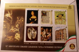 VATICAN 2019, 5OTH ANNIVERSARY CARABINIERI TUTELA PATRIMONIO CULTURALE SHEET MNH** - Vaticano (Ciudad Del)