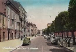 CAMPOBASSO-CORSO VITTORIO EMANUELE-CARTOLINA VERA FOTOGRAFIA-VIAGGIATA IL 6-4-1957 - Campobasso