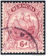 188 Bermuda 6p Claret Caravel Caravelle (BER-60) - Bermuda