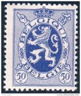 198 Belgium Lion 50c Bleu MNH ** Neuf SC (BEL-61a) - Big Cats (cats Of Prey)