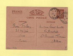 Daguin Mixte - Sens - Sens Sur Yonne - 24-6-1941 - Mechanical Postmarks (Other)