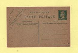 Entier Type Carte Postale - 20c Pasteur - Postales Tipos Y (antes De 1995)