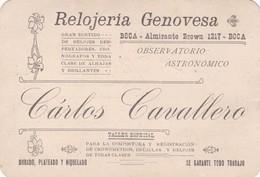 RECIBO RECEIPT ARGENTINA 1908 AVEC FISCAUX FISCAL RELOJERIA GENOVESA CARLOS CAVALLERO CARD - BLEUP - Invoices & Commercial Documents