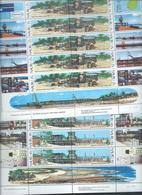 Nauru 1982 Thermal Energy Set Of 2 Pairs In Full Sheets Of 10 With Labels Imprints & Plate Numbers MNH - Nauru