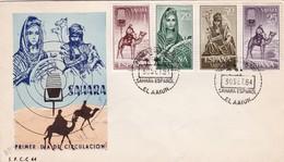 SAHARA ESPAÑOL. FDC 1961 EL AAIUN STAMP 4 COLOR - BLEUP - Sahara Spagnolo