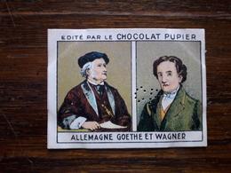 L20/68 Chromo Image Chocolat Pupier. Allemagne. Goethe Et Wagner - Altri