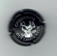 CAPSULE De CHAMPAGNE GUY LAMOUREUX - 10 LES RICEYS  Blanc Sur Fond NOIR  / Lot A / Bon état - Sin Clasificación