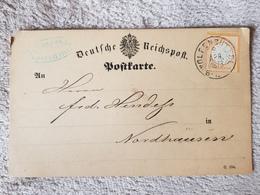 Deutsches Reich Brustschild Postkarte Wolfenbüttel Nach Nordhausen 1873 - Deutschland