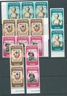 Nauru 1982 Princess Diana 21st Birthday Set 3 MNH X 5 In Strips And Pairs - Tuvalu