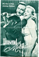 "BIBI JOHNS In ""A THOUSANDS MELODIEN"" Germany 1956 Original German Film Program - Films & TV"