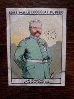 L20/75 Chromo Image Chocolat Pupier. Allemagne. Von Hindenburg - Altri