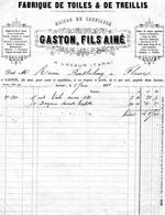 Boo01 Fabrique De Toiles Et Treillis - Lavaur Tarn GASTON 1874 - Autres