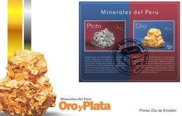 Peru 2018 FDC Minerals Silver & Gold - Minerals