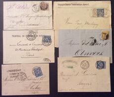 40 Seine Inférieure Elbeuf Rouen Central Le Havre Rouen Sage 30c 25c 15c - Postmark Collection (Covers)